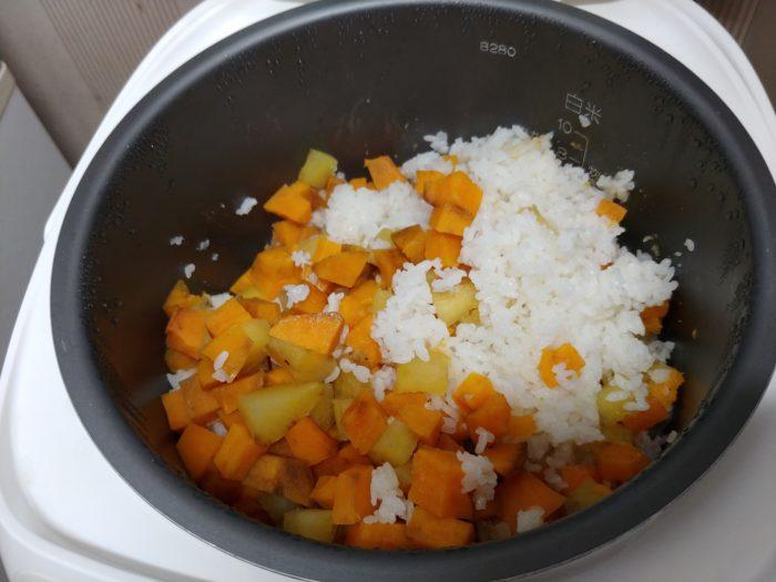 芋ご飯は秋の香り