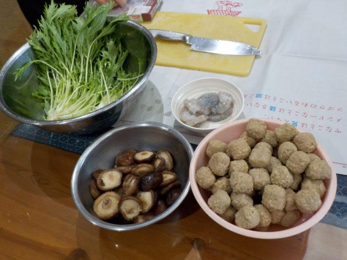 中華鍋の食材