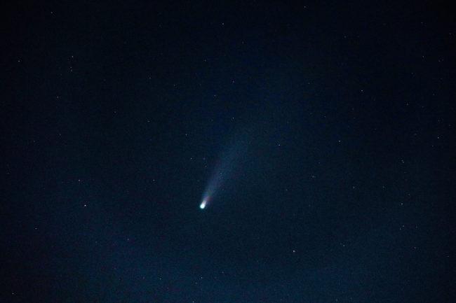 ネオワイズ彗星を撮影
