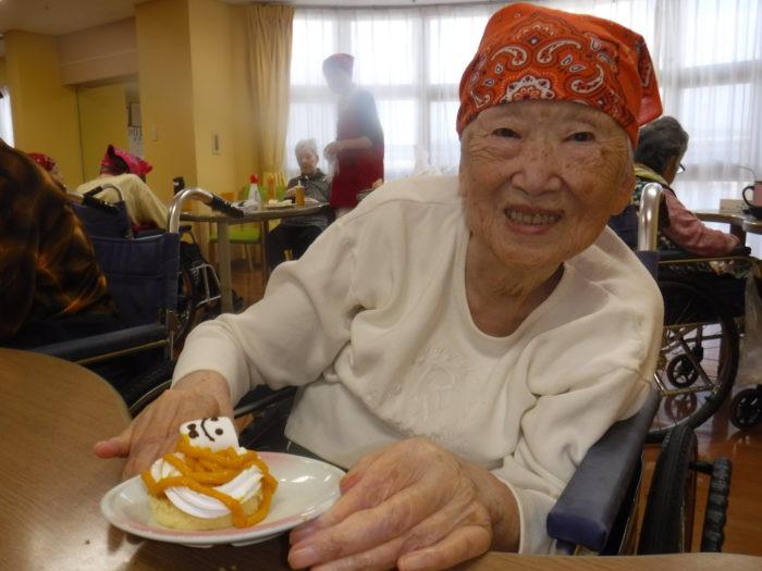 特養 クッキングクラブ おやつ 食レク かぼちゃモンブラン