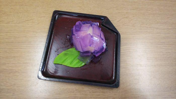 特養おやつレク 和菓子 紫陽花 普通食