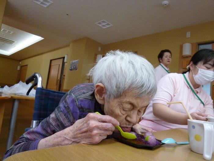 高齢者 おやつ 食欲増進 和菓子 紫陽花  その人に合わせた食事形態