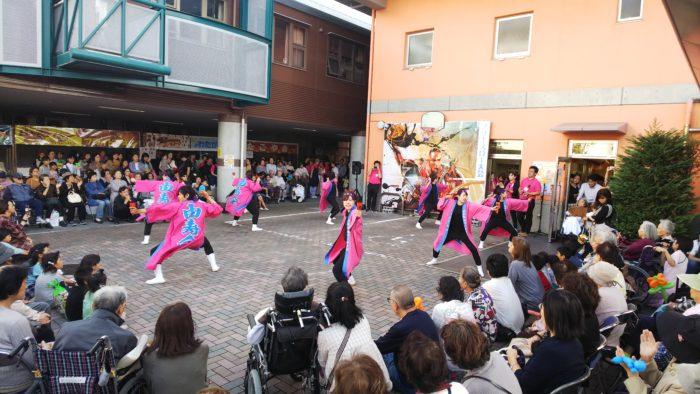 アーバンケア稲田秋祭り 華やかな締めくくり よさこいソーラン 職員有志