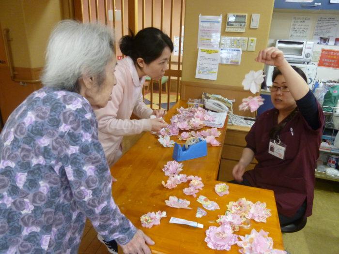 桜開花~手作りのお花見準備中~