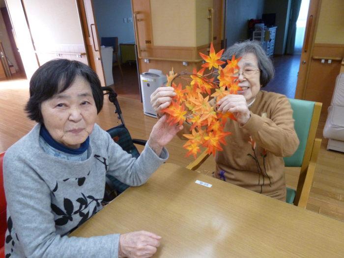 特養の飾りつけ 秋の季節を感じる 掲示物 東大阪の特養 個室型