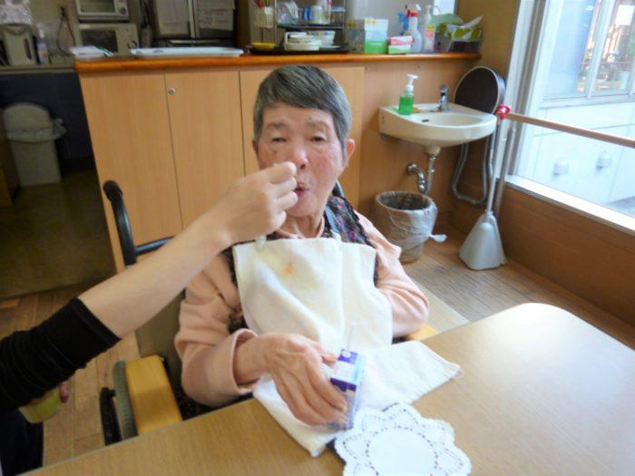 11月おやつレ さつま芋のムース ミキサー食も食べれるおやつ 特養のおやつ