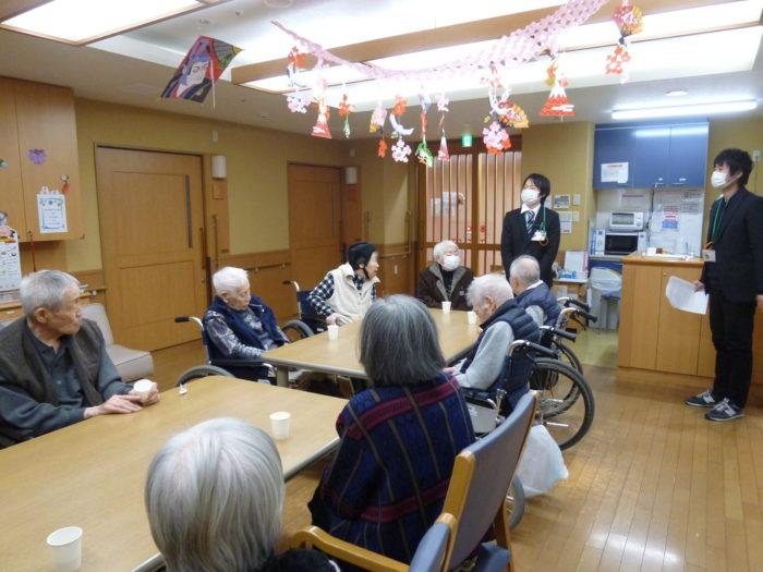 アーバンケア御厨 元旦祭 お正月の挨拶 高齢者施設 東大阪