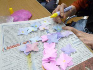 梅雨入り 紫陽花 壁飾り