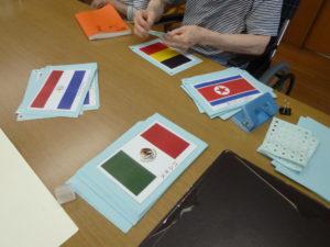 東京オリンピック 国旗のガーランド