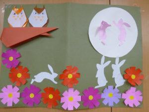 芸術の秋 実りの秋 コスモスの壁飾り